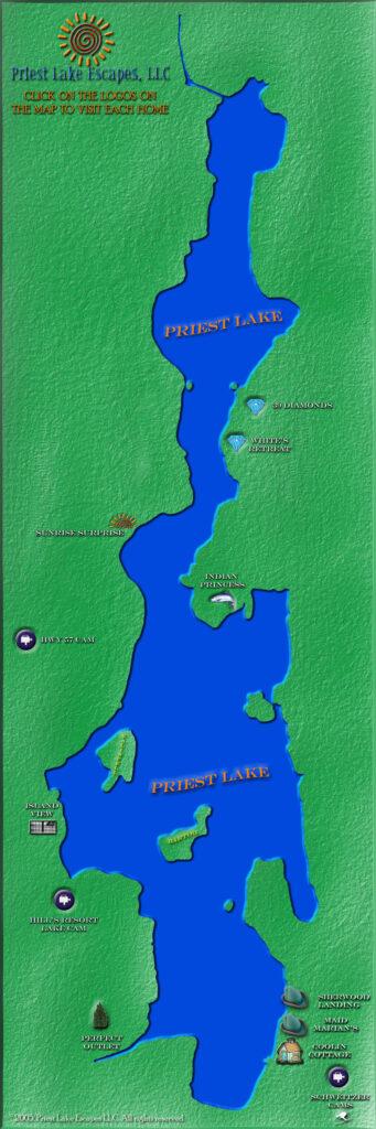 Priest Lake Map
